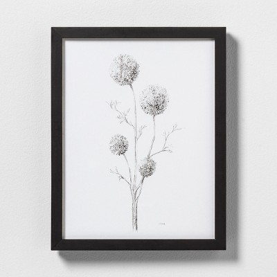 11  X 14  Flowering Branch Wall Art with Black Wood Frame - Hearth & Hand™ with Magnolia