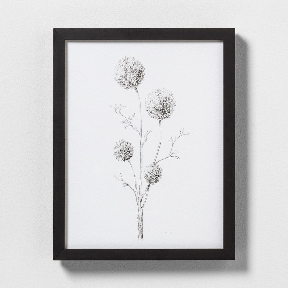 "Image of ""11"""" X 14"""" Flowering Branch Wall Art with Black Wood Frame - Hearth & Hand with Magnolia"""