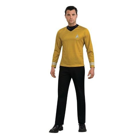 Men's Star Trek Captain Kirk Shirt Halloween Costume - Gold - image 1 of 1