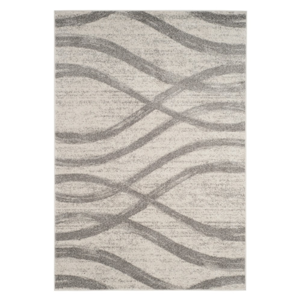 8'X10' Wave Area Rug Cream/Gray - Safavieh, Off-White Gray
