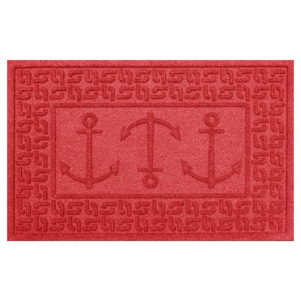 Solid Red Solid Doormat - (2'X3') - Bungalow Flooring