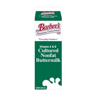 Barber Fat Free Buttermilk - 1qt