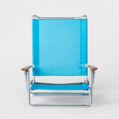 5-Position Collapsible Beach Chair Blue - Sun Squad™