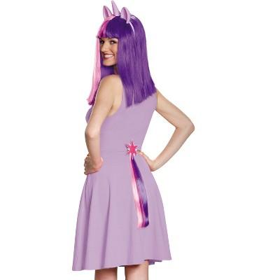 Unicorn Wig /& Tail Kit Rainbow Fancy Dress Up Halloween Adult Costume Accessory