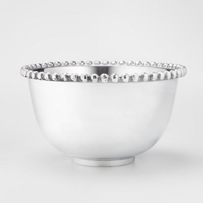 Aluminum Beaded Border Serving Bowl 225.7oz Silver - Threshold™