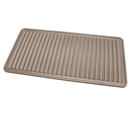 "Tan Solid Boot Tray - (1'6""x3') - WeatherTech - image 1 of 2"