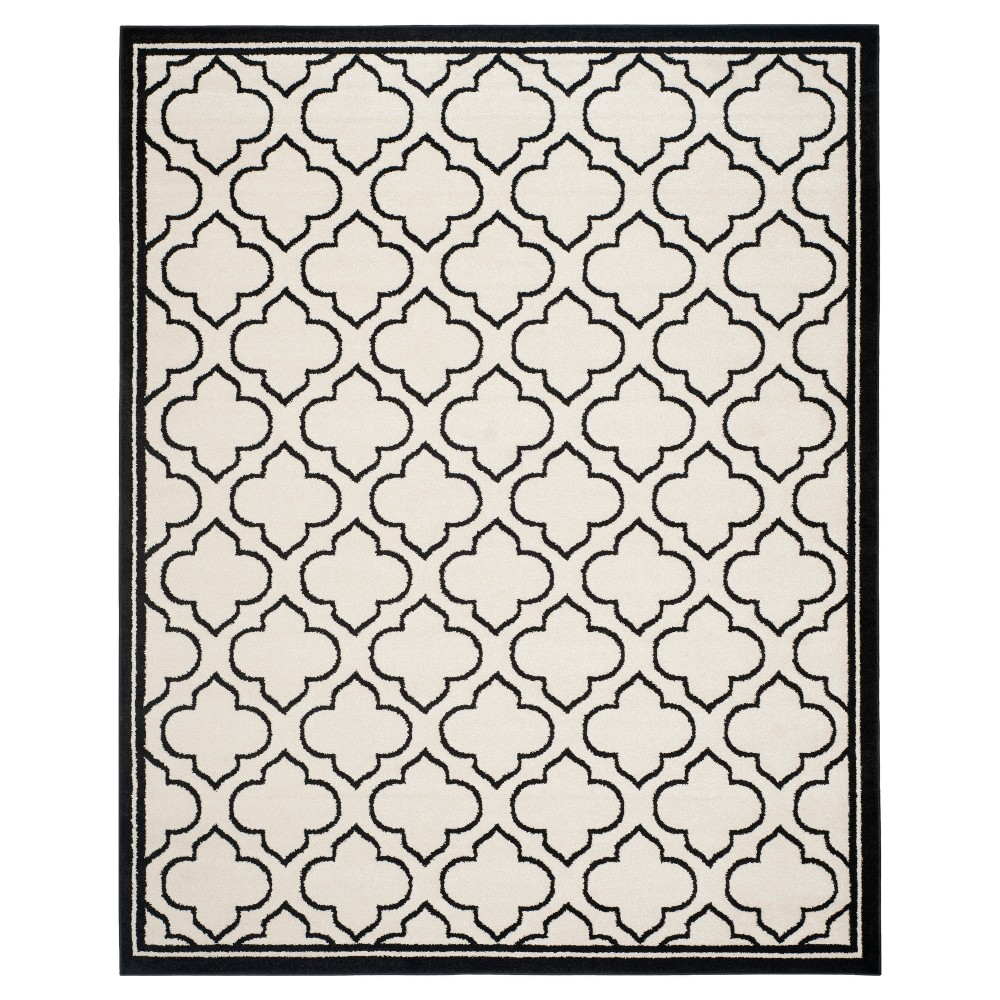 Coco 9'x12' Indoor/Outdoor Rug - Ivory/Anthracite (Ivory/Grey) - Safavieh