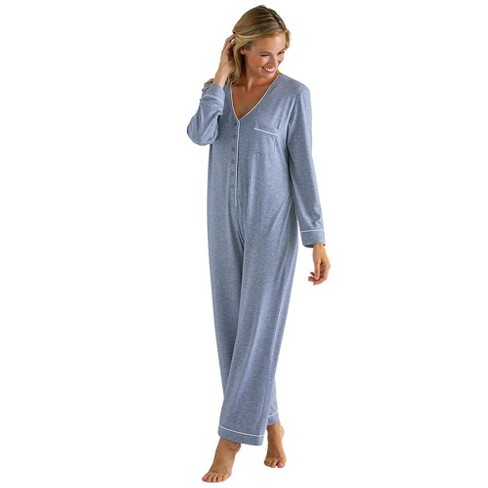 Softies Women's Long Sleeve Sleeper with Contrast Piping - image 1 of 4