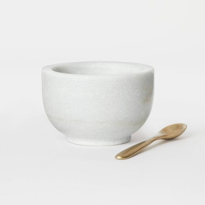 2.7oz Marble Pinch Bowl with Spoon - Threshold™ designed with Studio McGee