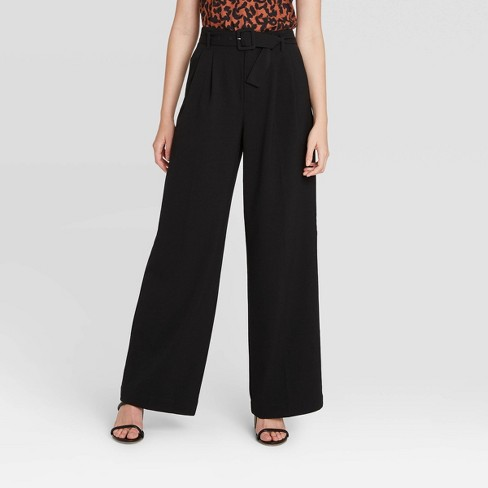 Women's High-Rise Belted Wide Leg Pants - A New Day™  - image 1 of 4