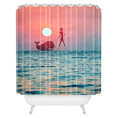 Fancy Pet Shower Curtain Blue Tide - Deny Designs