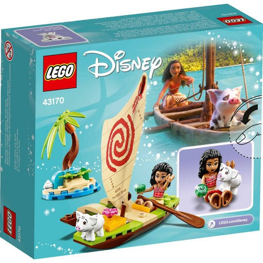 LEGO Disney Moana's Ocean Adventure Princess Building Playset 43170 image number null