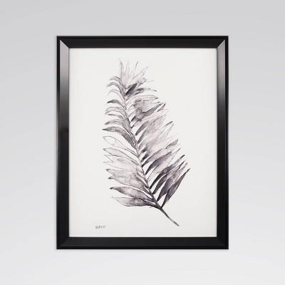 "18"" x 22"" Frond I Framed Recessed Box Wall Art - Threshold™"