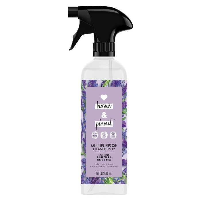 Love Home & Planet Lavender & Argan Oil Multipurpose Cleaner Spray - 23 fl oz - image 1 of 4