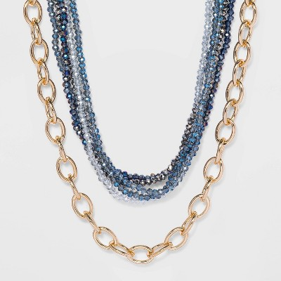 Beaded Large Chain Necklace - A New Day™