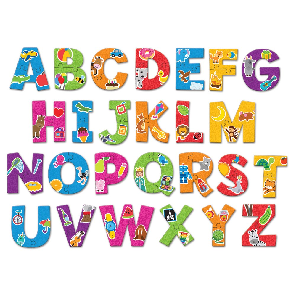 Learning Resources Alphabet Puzzle Cards Kids will build alphabet awareness and letter recognition with this colorful set of uppercase letter puzzle pieces. Each letter features bold graphics that match its beginning sound. Includes 26 durable, two-piece puzzles. Gender: Unisex.