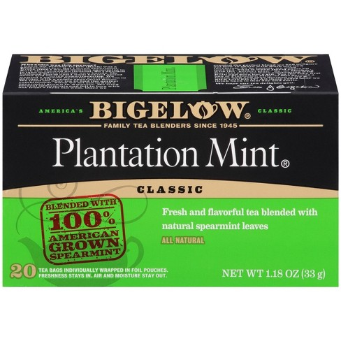 Bigelow Plantation Mint Tea Bags - 20ct : Target