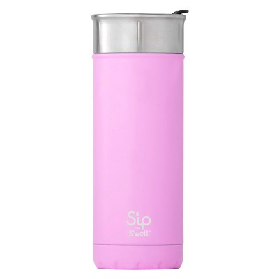 S'ip by S'well 16oz Vacuum Insulated Stainless Steel Travel Mug Pink