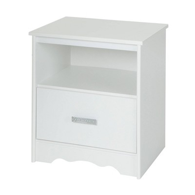 Tiara 1-Drawer Nightstand Pure White - South Shore