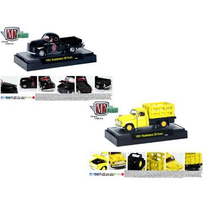 Auto Trucks Release 21A 1951 Studebaker 2R 2pc Cars Set W/CASES 1/64 Diecast Model Cars by M2