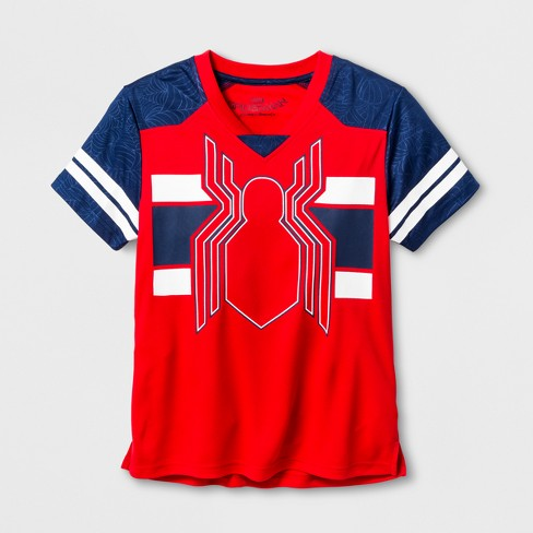 Boys' Spider-Man Team Jersey Activewear T-Shirt - Red XS - image 1 of 2
