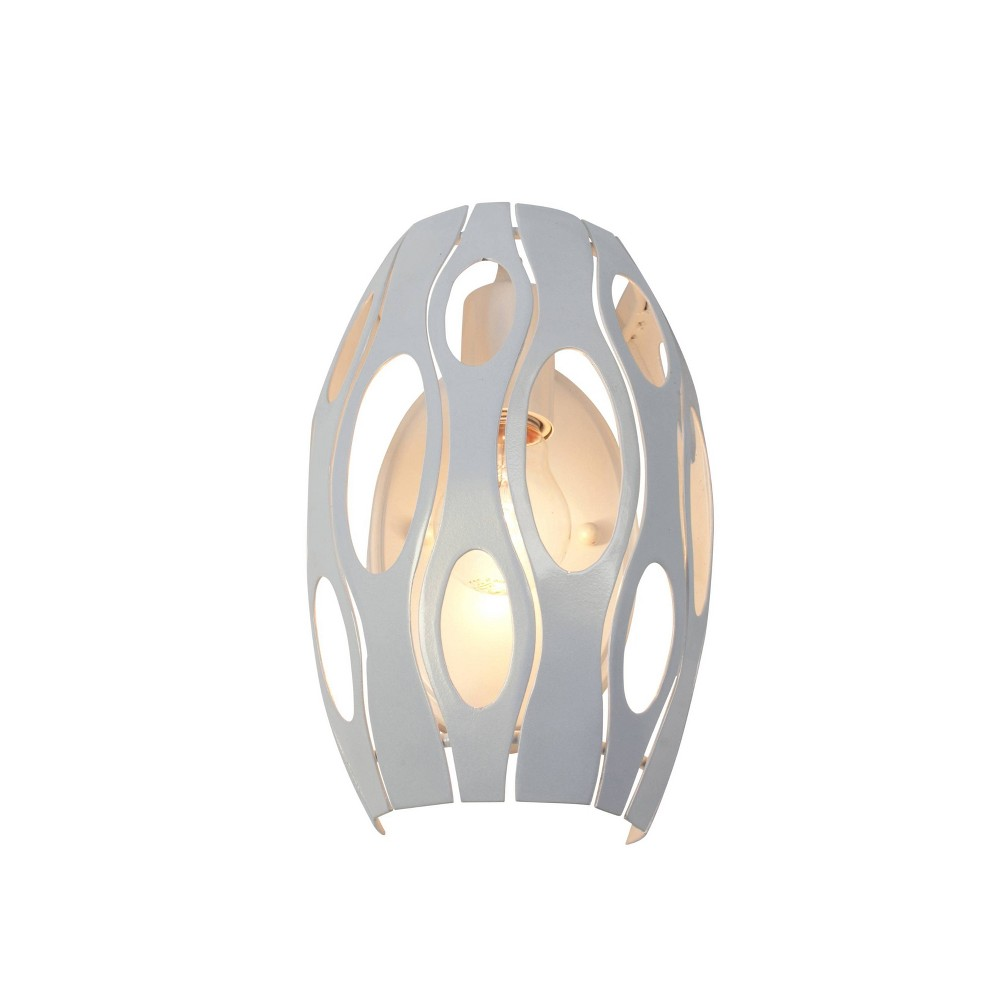 Masquerade 1 Light Wall Sconce - Pearl, Silver