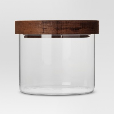 Glass Storage Canister with wood lid - Extra Small - Threshold™