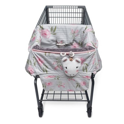 Boppy Preferred Shopping Cart and Restaurant High Chair Cover - Pink Gray Unicorn