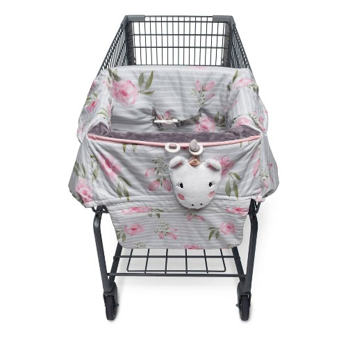 Boppy Preferred Shopping Cart and Restaurant High Chair Cover - Pink Gray Unicorn - image 1 of 4