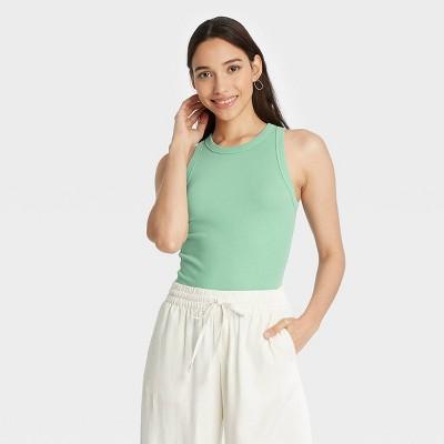 Women's Slim Fit Rib Tank Top - A New Day™