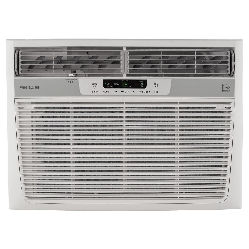 Frigidaire - 18000-Btu 230V Window-Mounted Median Air Conditioner with Temperature Sensing Remote - White