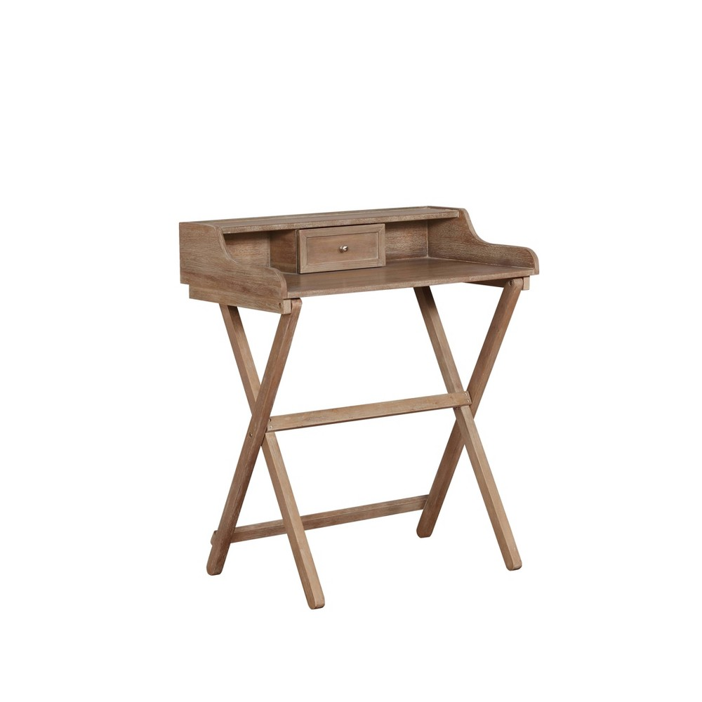 Coy Wash Folding Desk Natural - Linon, Gray Coy Wash Folding Desk Natural - Linon Color: Gray.