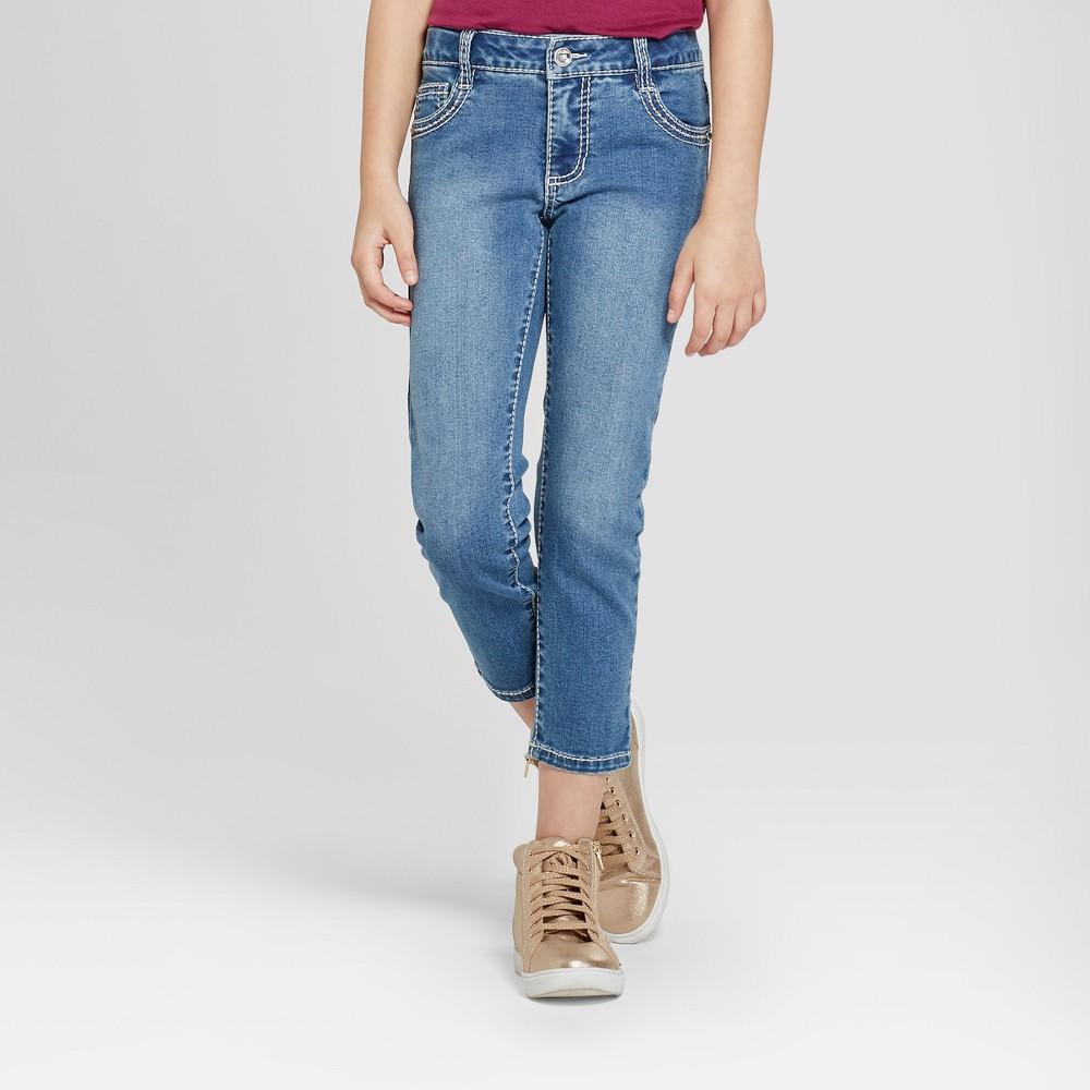 Girls' First Mandy Bling Crop Short Jeans - Blue 12