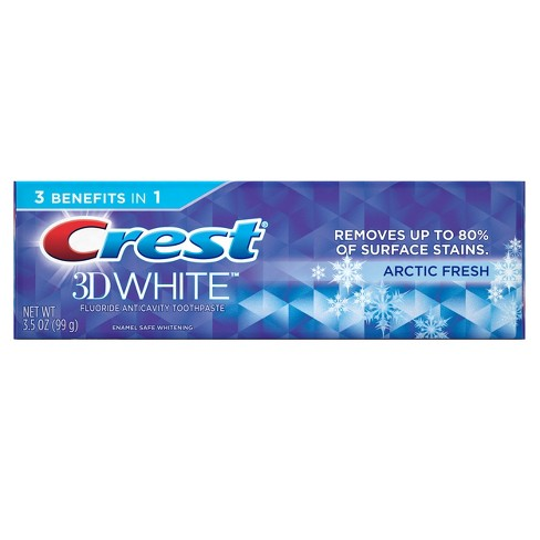Crest 3D White Arctic Fresh Whitening Toothpaste Icy Cool Mint - 3.5oz - image 1 of 4