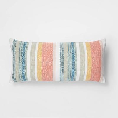 Oversized Lumbar Woven Stripe Pillow - Threshold™
