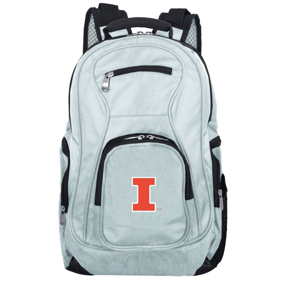 NCAA Illinois Fighting Illini Gray Premium Laptop Bag