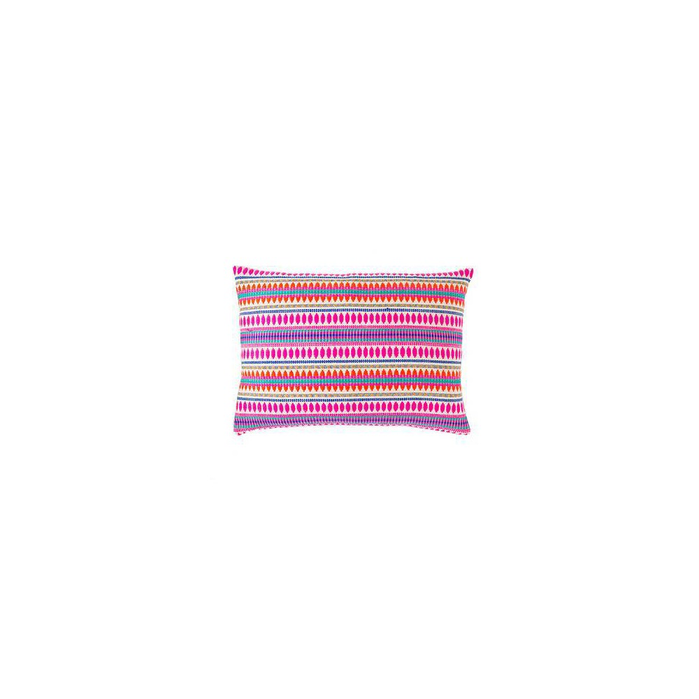 "Image of ""14""""x20"""" Cante Striped Lumbar Pillow Pink - Jaipur Living"""