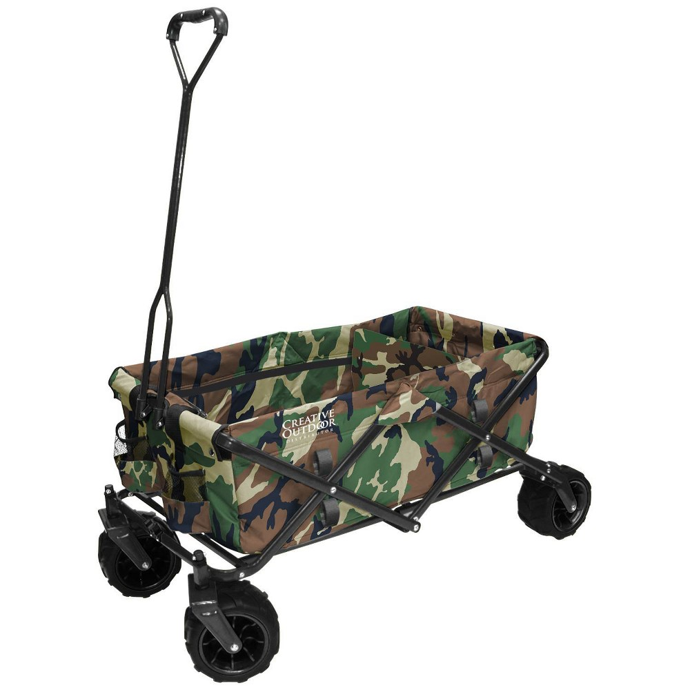 Image of Creative Outdoor Distributor All Terrain Folding Wagon - Camo, Green