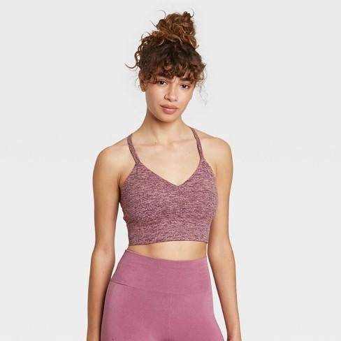 Women's Strappy Longline Brushed Jersey Bra - JoyLab™ - image 1 of 2