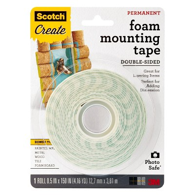 Scotch Create Double-Sided Foam Mounting Tape