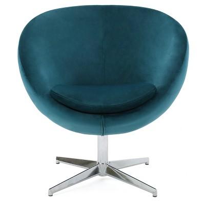Isla Upholstered Chair - Dark Teal New Velvet - Christopher Knight Home