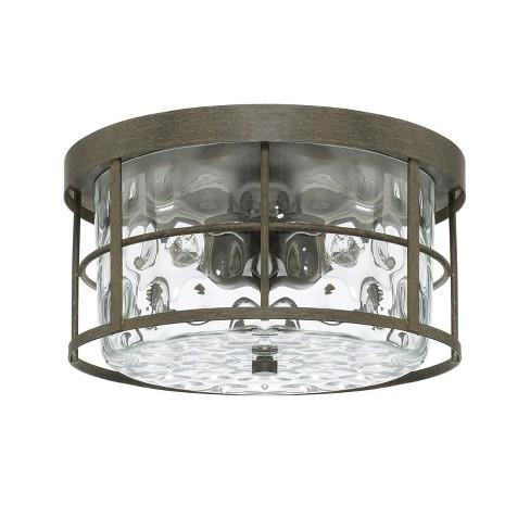 Capital Lighting 225021 Beaufort 2 Light 13 Wide Flush Mount Drum Ceiling Fixture