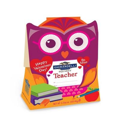 Ghirardelli Valentine's Day Teacher Owl Gift - 3.72oz