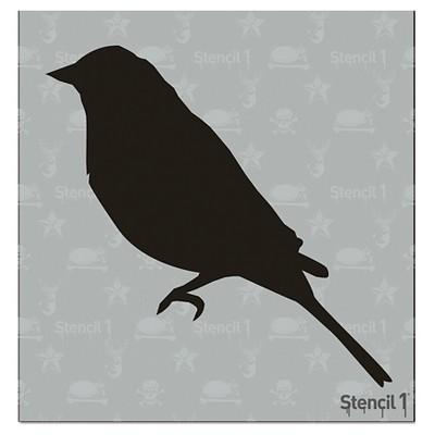 "Stencil1 Bird Silhouette - Stencil 5.75"" x 6"""