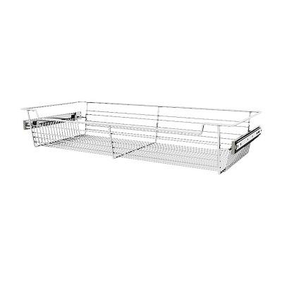 "Rev-A-Shelf Sidelines CBSL-301405CR-3 30"" Chrome Wire Pullout Storage Basket Bin Organizer for 14"" Deep Kitchen, Bathroom, or Closet Cabinet (3 Pack)"