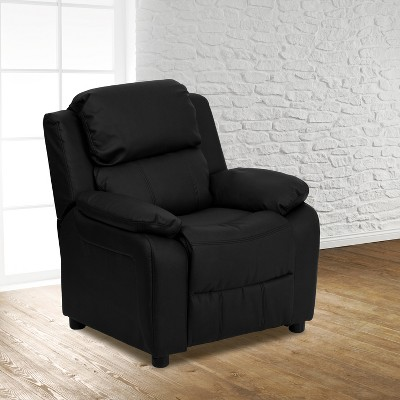 Flash Furniture Deluxe Padded Contemporary Kids Recliner with Storage Arms