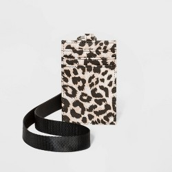 Women's Leopard Print Lanyard - Wild Fable™