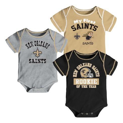 NFL New Orleans Saints Boys  Newest Fan 3pk Bodysuit Set   Target 43328ac15