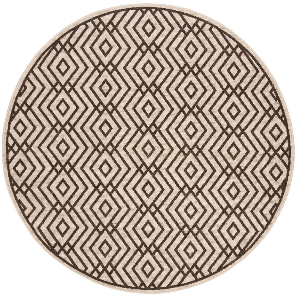 67 Geometric Loomed Round Area Rug Natural/Brown - Safavieh Buy