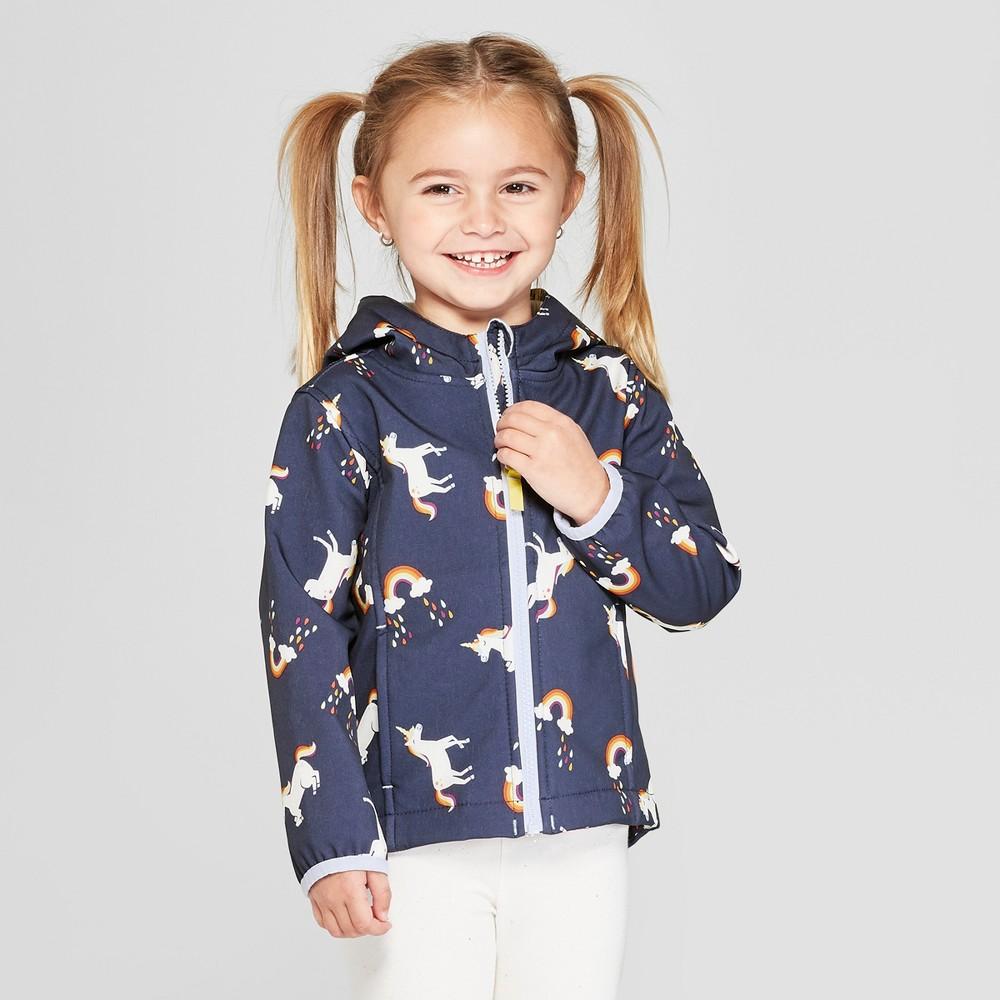 Toddler Girls' Unicorn Softshell Jacket - Cat & Jack Blue 6X